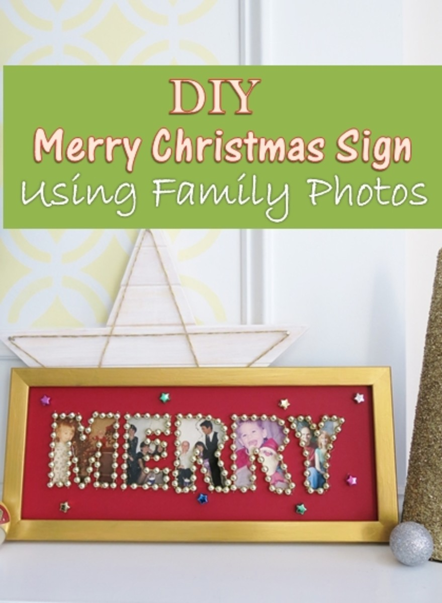 DIY Holiday Craft: Merry Christmas Sign Using Family Photographs