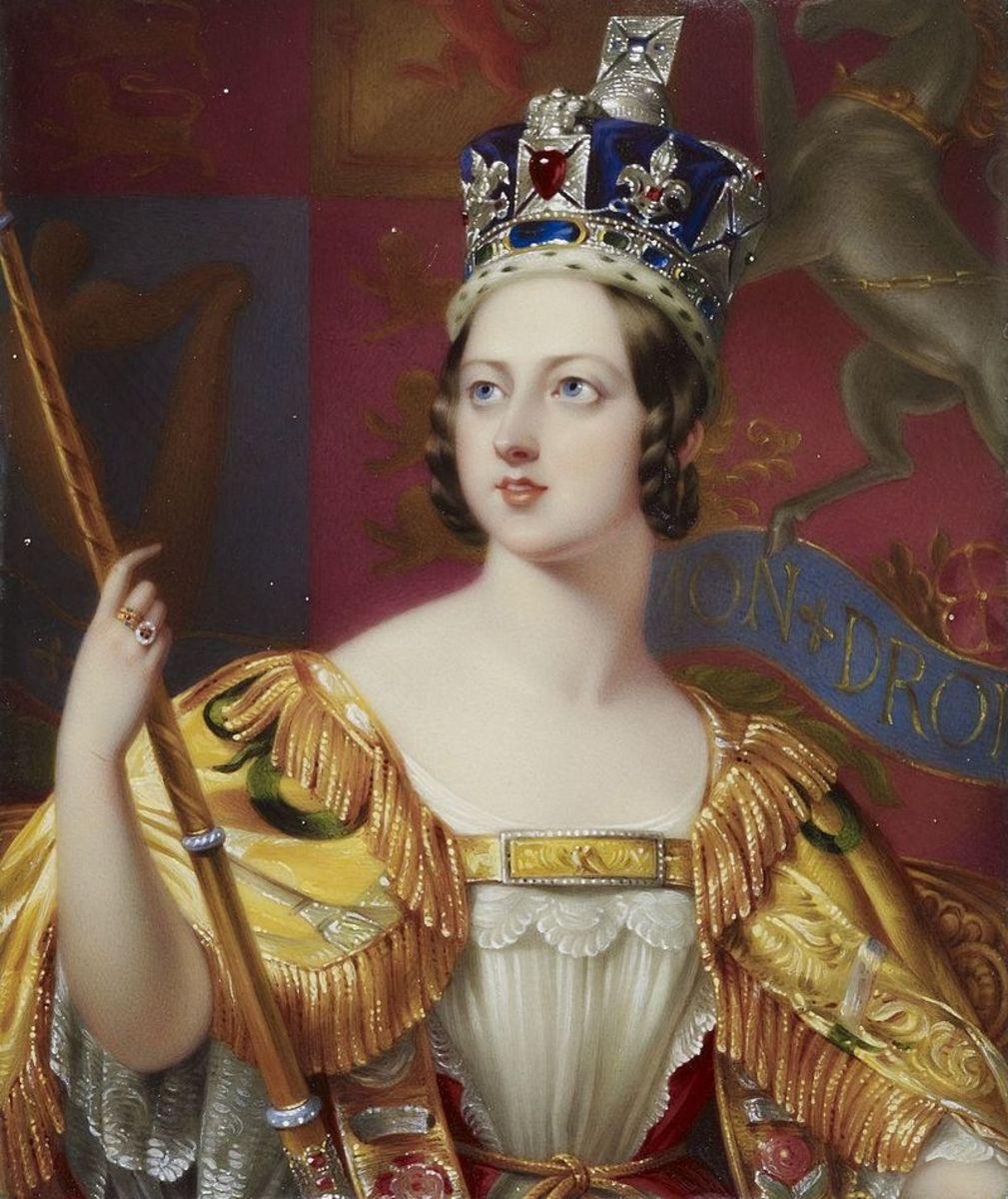Queen Victoria's coronation portrait.