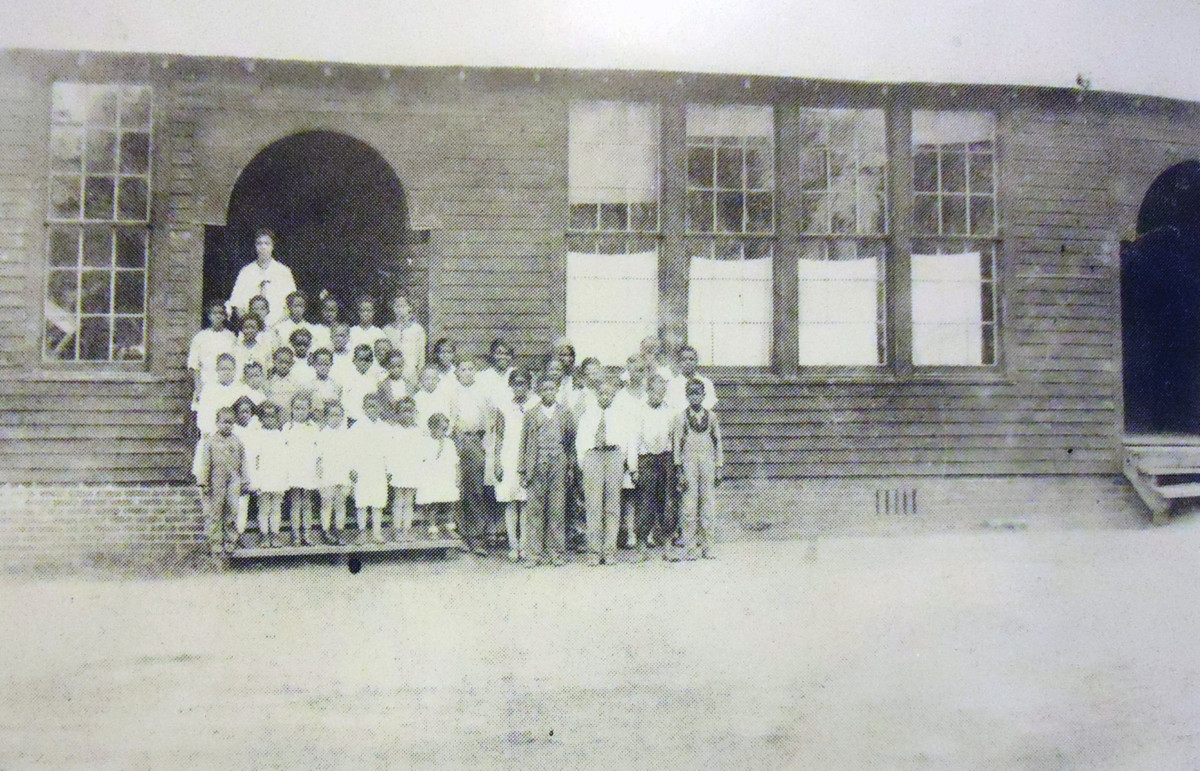 The first all black school in Poteau