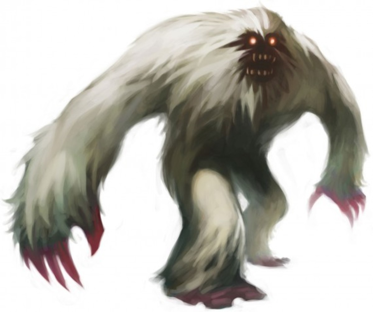 This is actually artwork of a Yeti, but you get the idea.