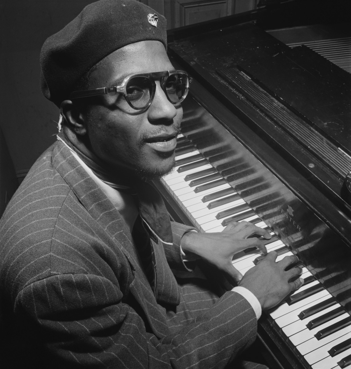 Thelonious Monk, Minton's Playhouse, New York, ca. September 1947. Photograph by William P. Gottlieb - entered into the public domain on February 16, 2010