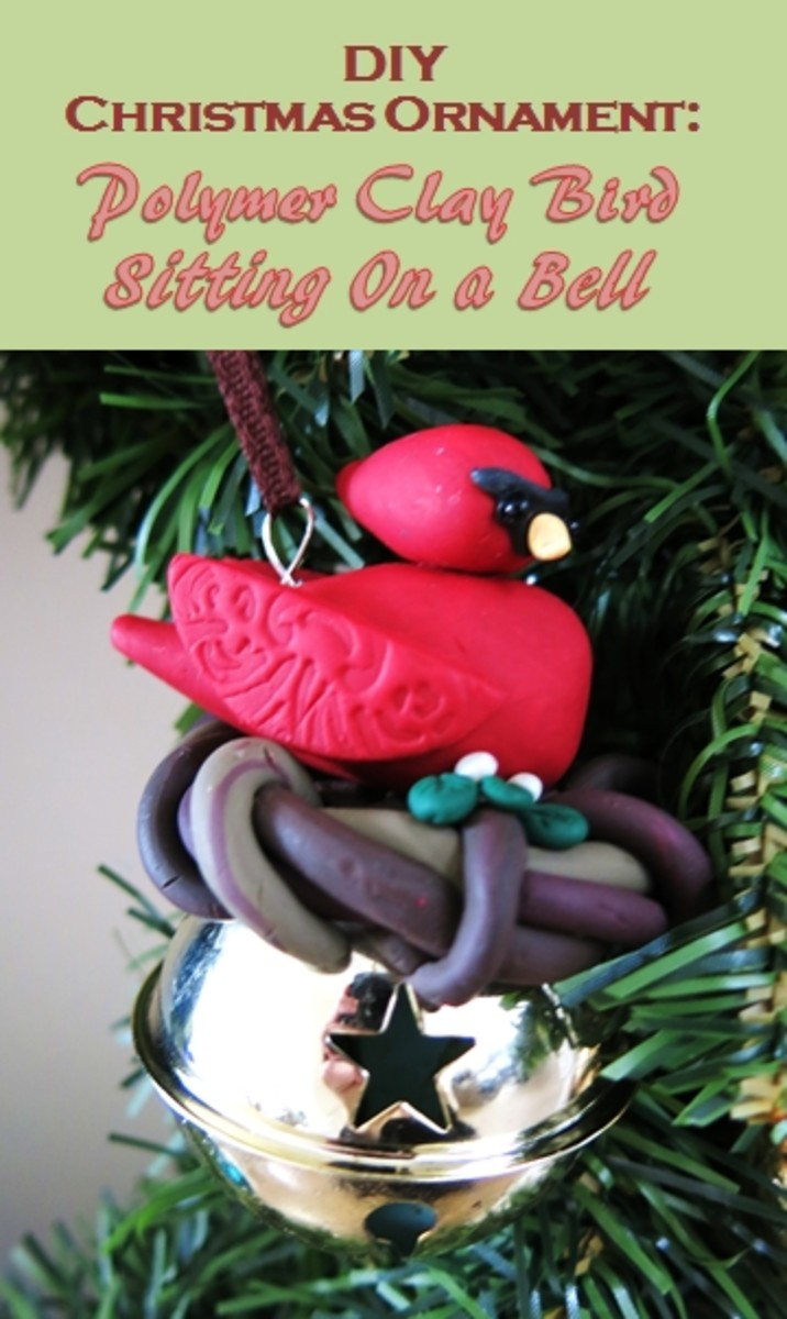 How to Make a Polymer Clay Bird Christmas Ornament