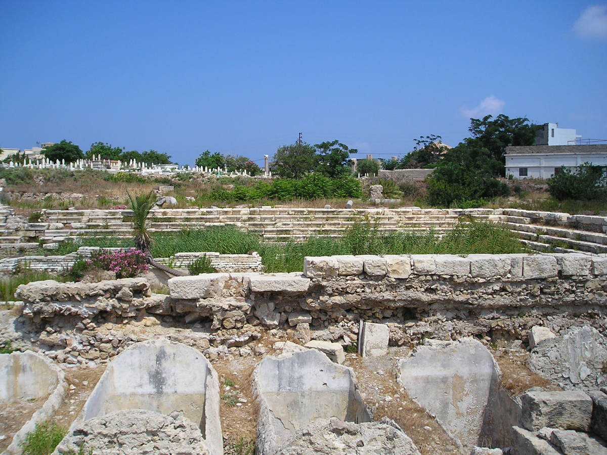 Al Mina Theater excavation at Tyre