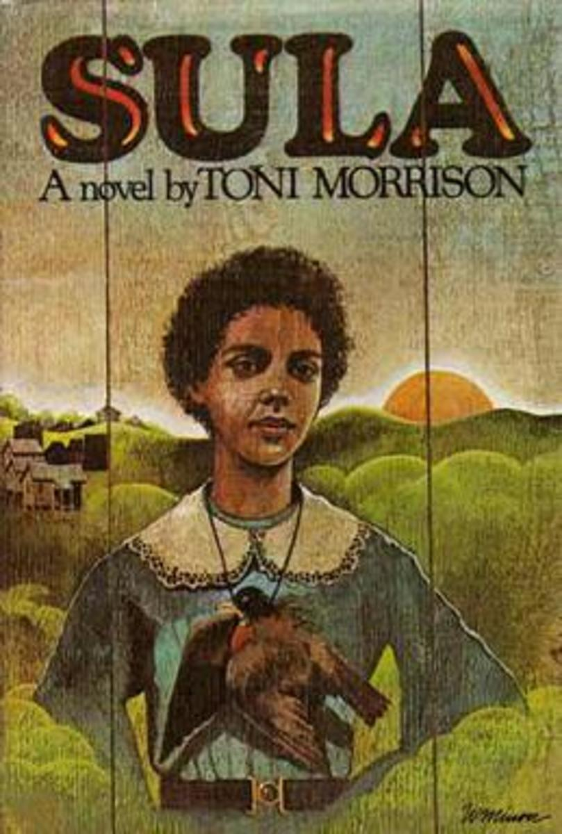This is the front cover art for the book Sula written by Toni Morrison. The book cover art copyright is believed to belong to the publisher, Knopf, or the cover artist.