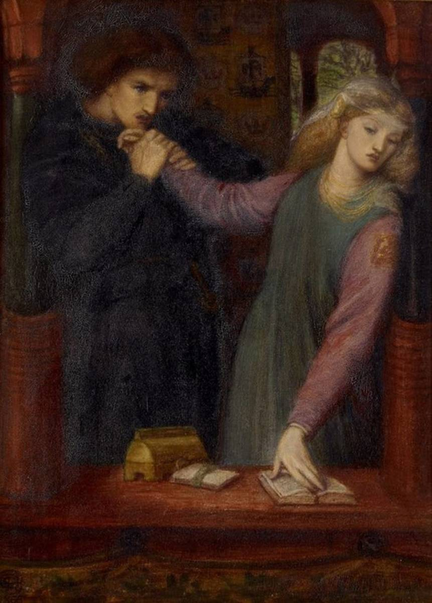 Hamlet and Ophelia by Dante Gabriel Rossetti, 1866