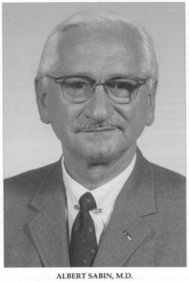 Albert Sabin, developer of an oral polio vaccine.