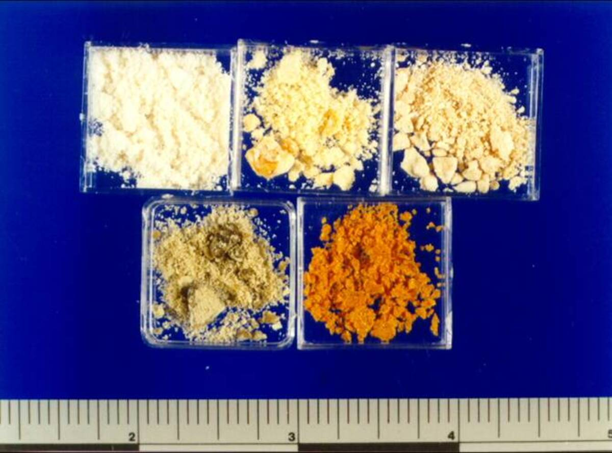 Methamphetamine comes in various colors and may be inhaled (smoked), injected, or taken orally.