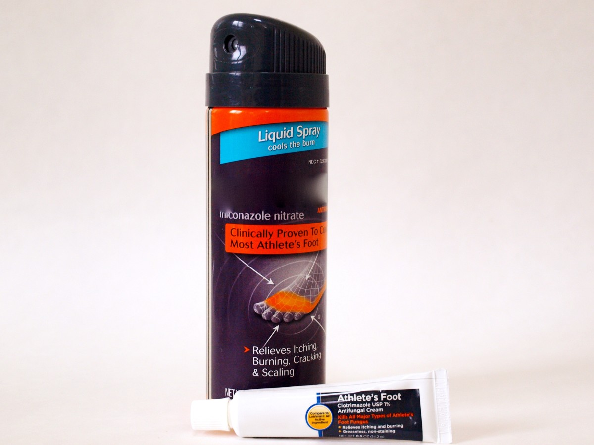 Anti-fungal creams and sprays advertised for athlete's foot or jock itch can be used on other ringworm infections.