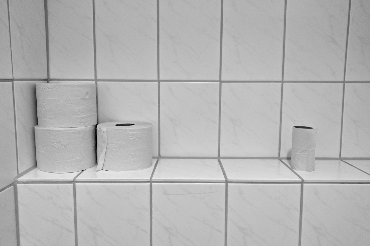 Be sure to have plenty of toilet paper. Wet wipes are also a good idea to stock up on to prevent unnecessary irritation.
