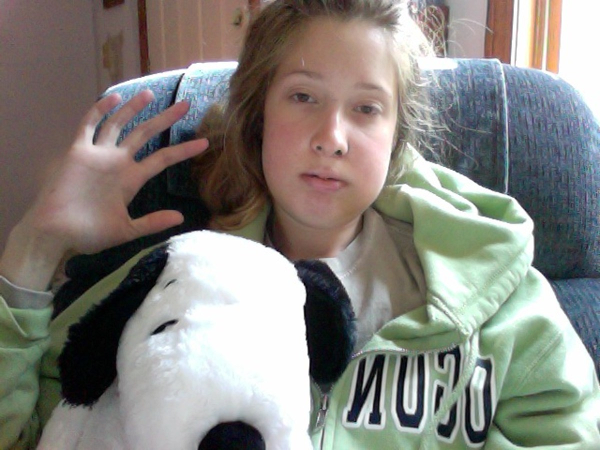 Here I am just a few days after jaw surgery with my pal Snoopy my boyfriend bought for me and gave me at the hospital :)