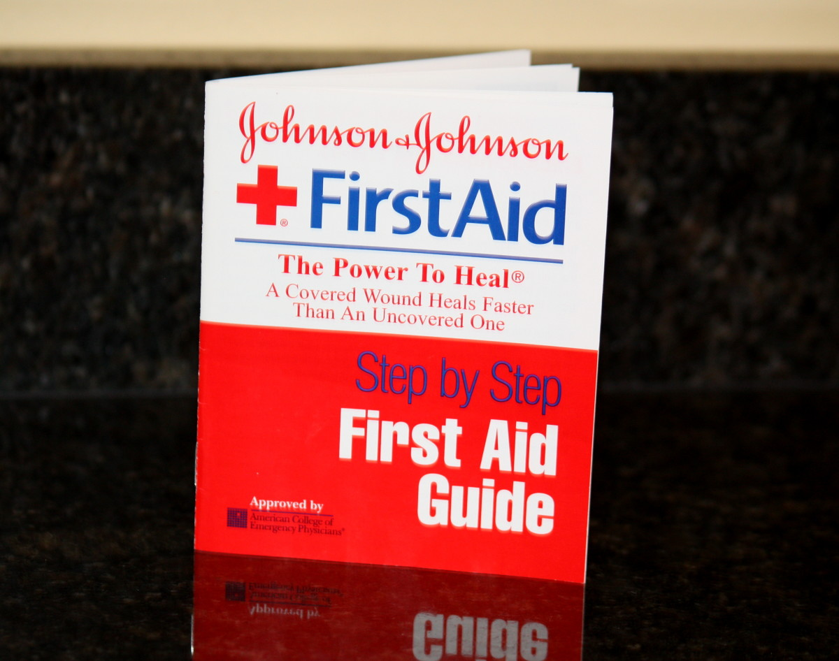 This first aid guide came with my kit and describes the basics of proper first aid.