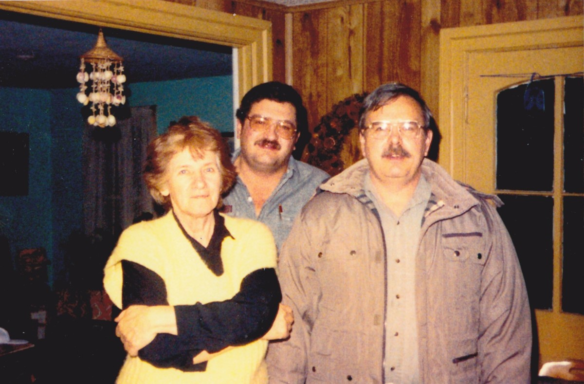 Picture taken at home in 1990 with my mother and brother standing in back.  I am on the right and had been smoking for 23 years.