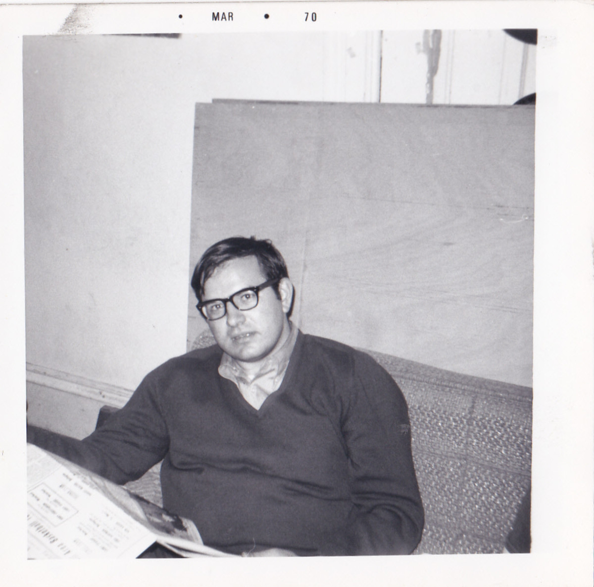 Picture taken in 1970 while home on leave from the Navy.  I had been smoking for almost three years.