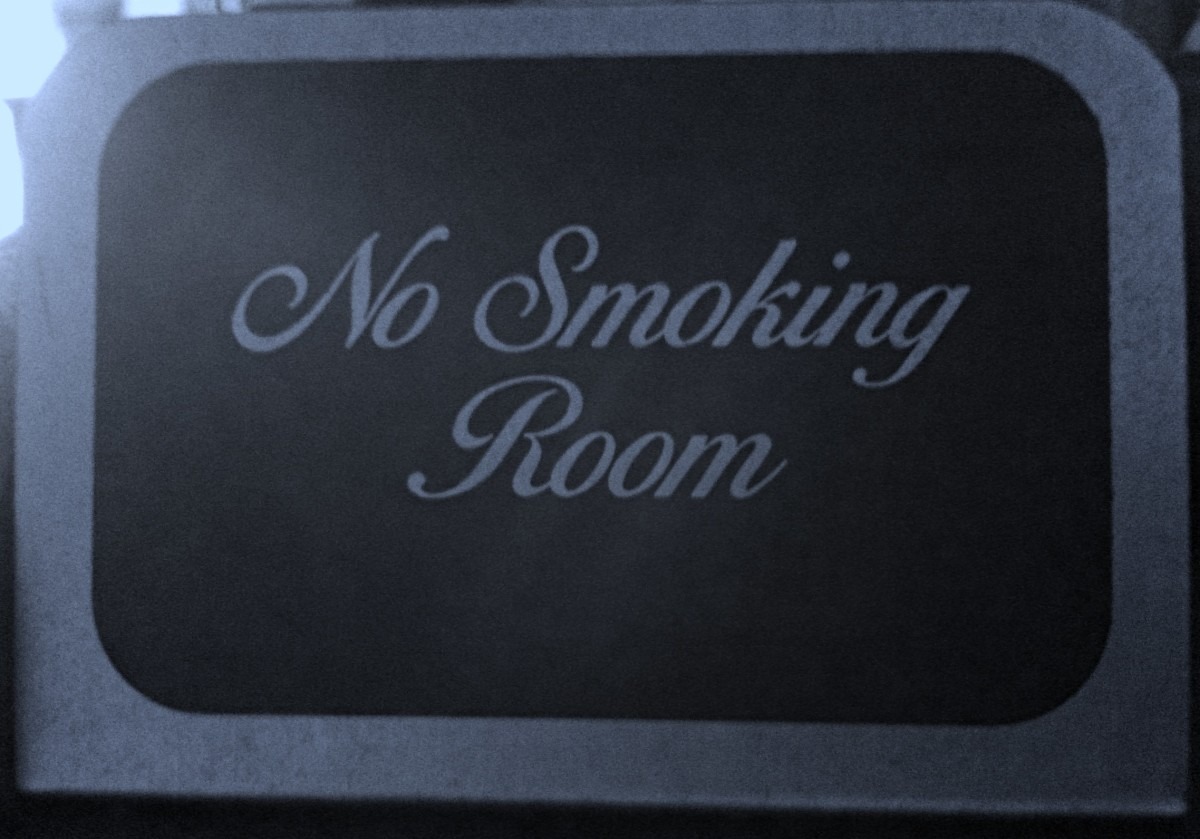 Scatter these handy little no smoking signs all over your house. Or maybe a big one on your front door.