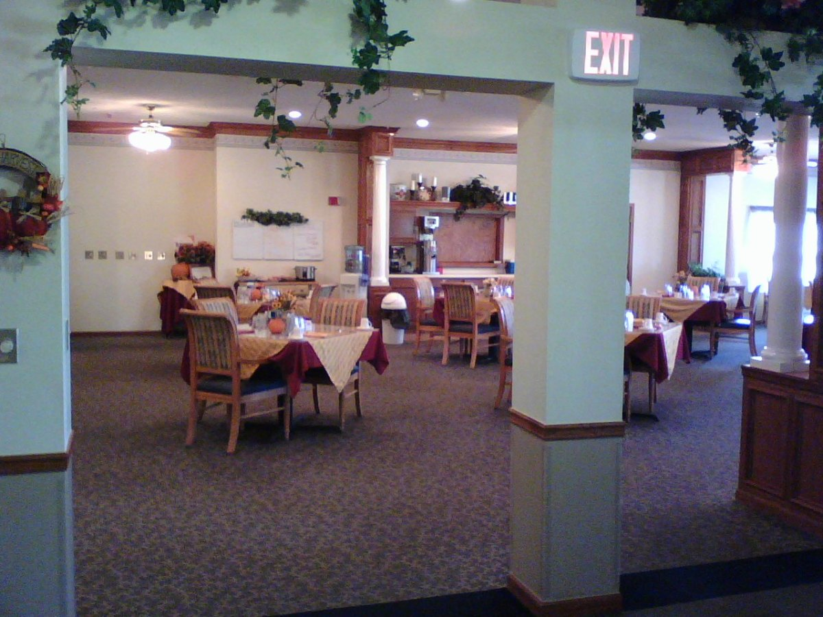 Assisted living facilities often promote relationships through a common dining hall.