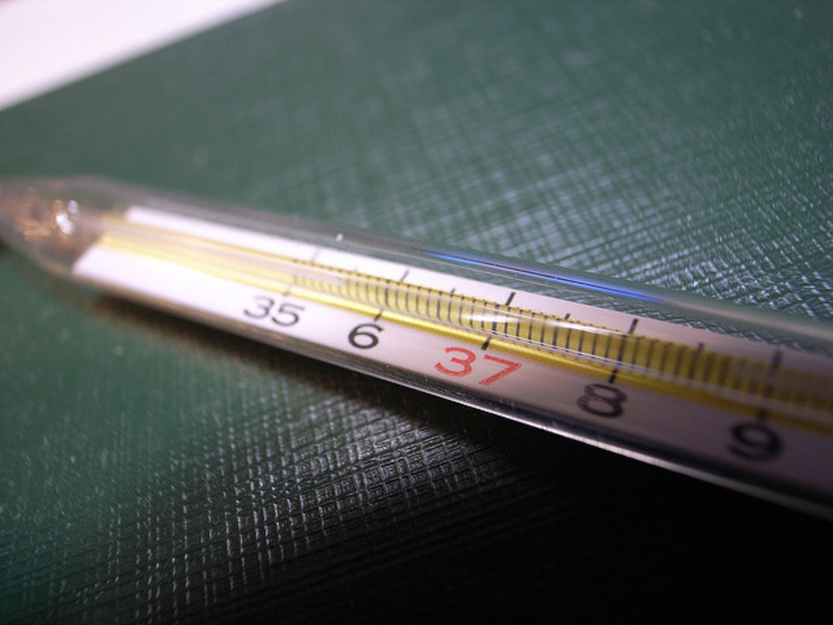 A standard thermometer becomes impossible to read for someone with low vision problems.
