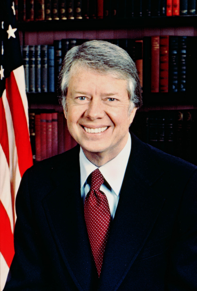 Jimmy Carter is known for having very thick gums.