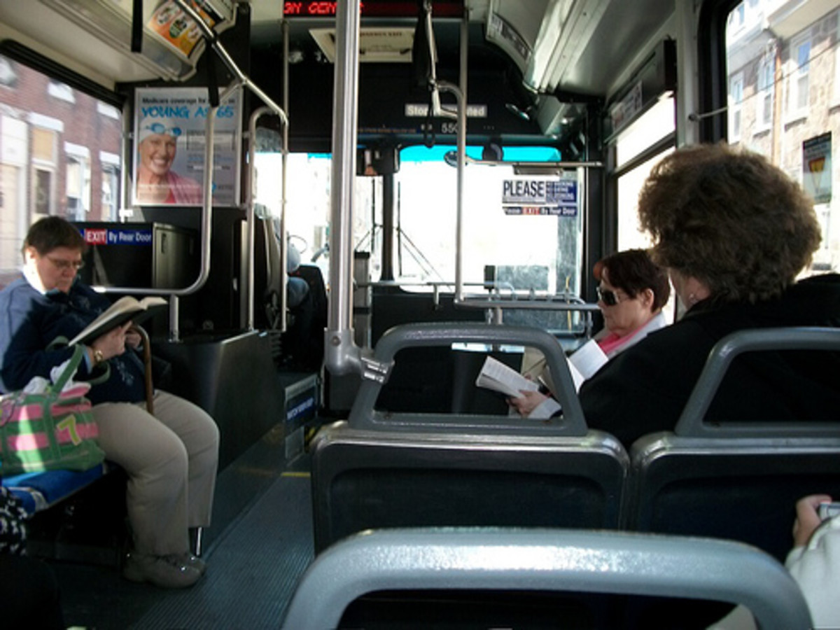 Take a book to read when you fear going on a bus or train