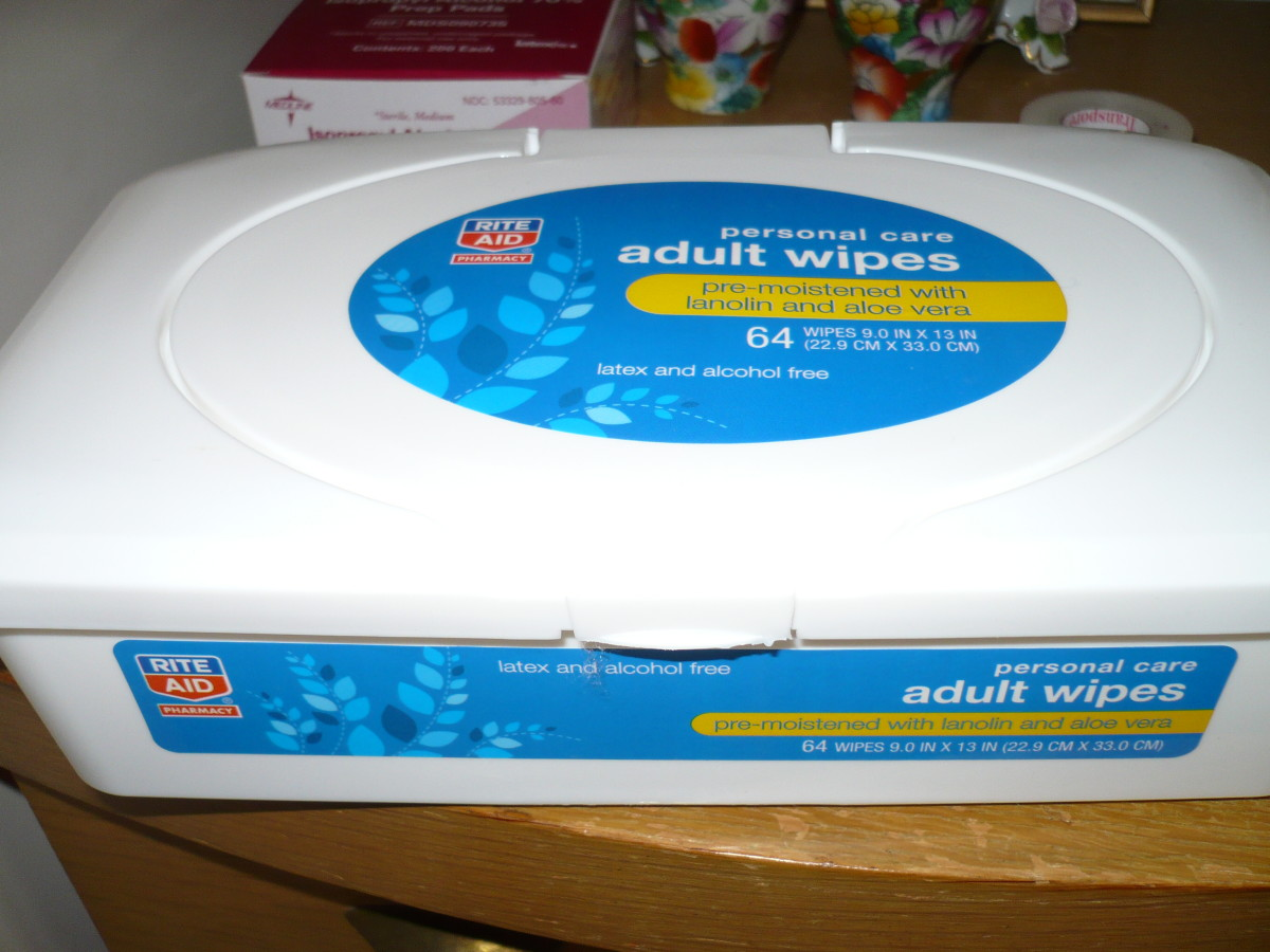 Adult wipes make quick work of cleaning up messes while changing and are easy on the skin.