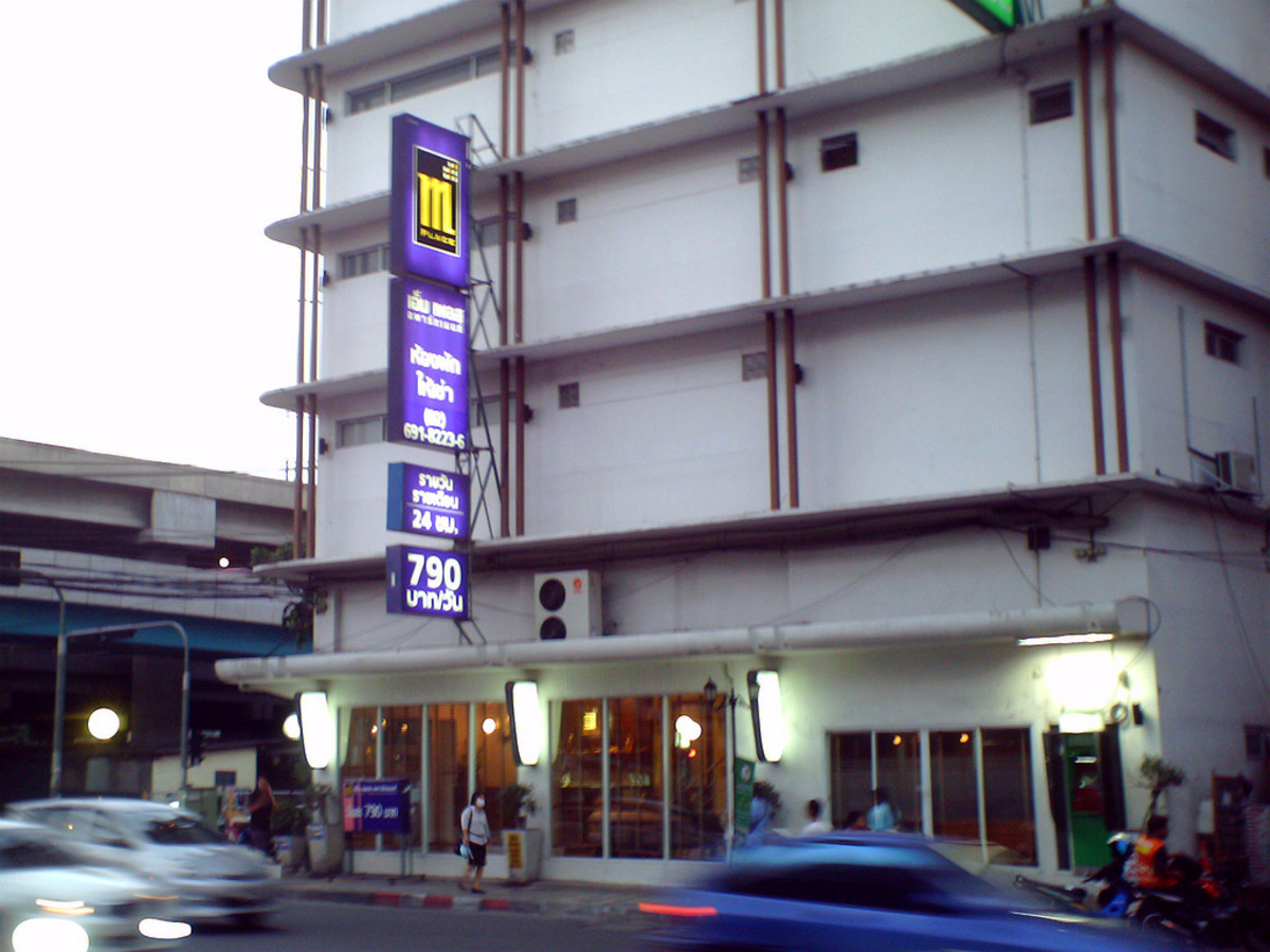 The M-Place Hotel in Bangkok, right across the street from Dr. Pichet's clinic.