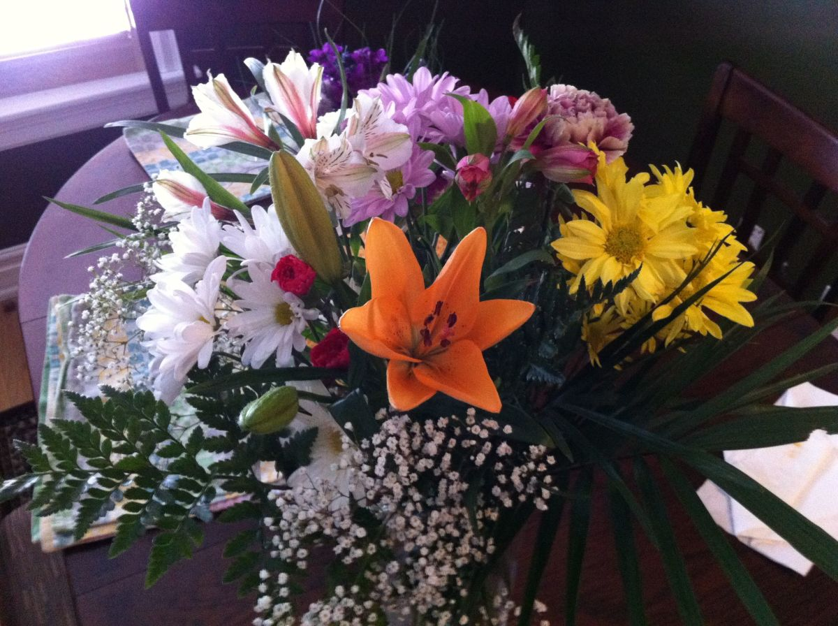 These flowers from Matt were waiting for me when I got home on January 31.