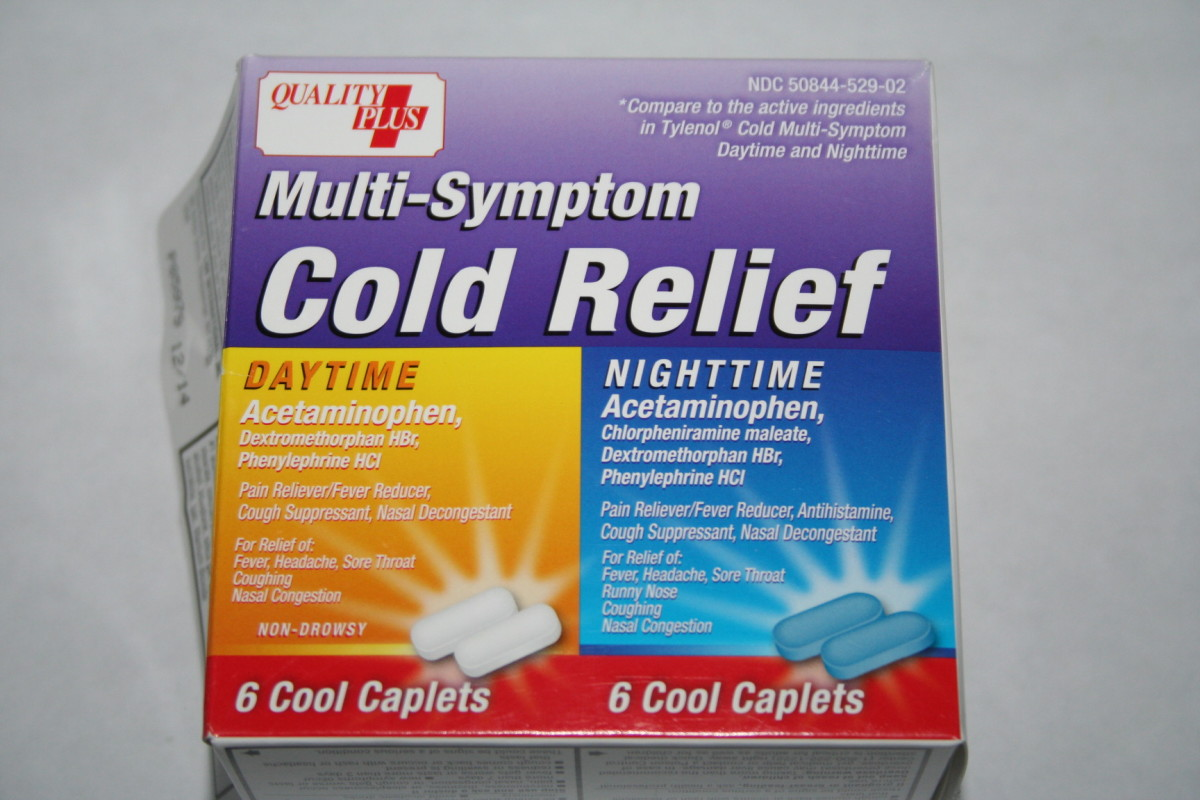 Walmart brand cold relief pills for day or night.  These work great and are only 88 cents a box!