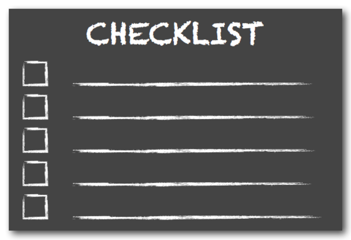 Make a checklist of your medical needs