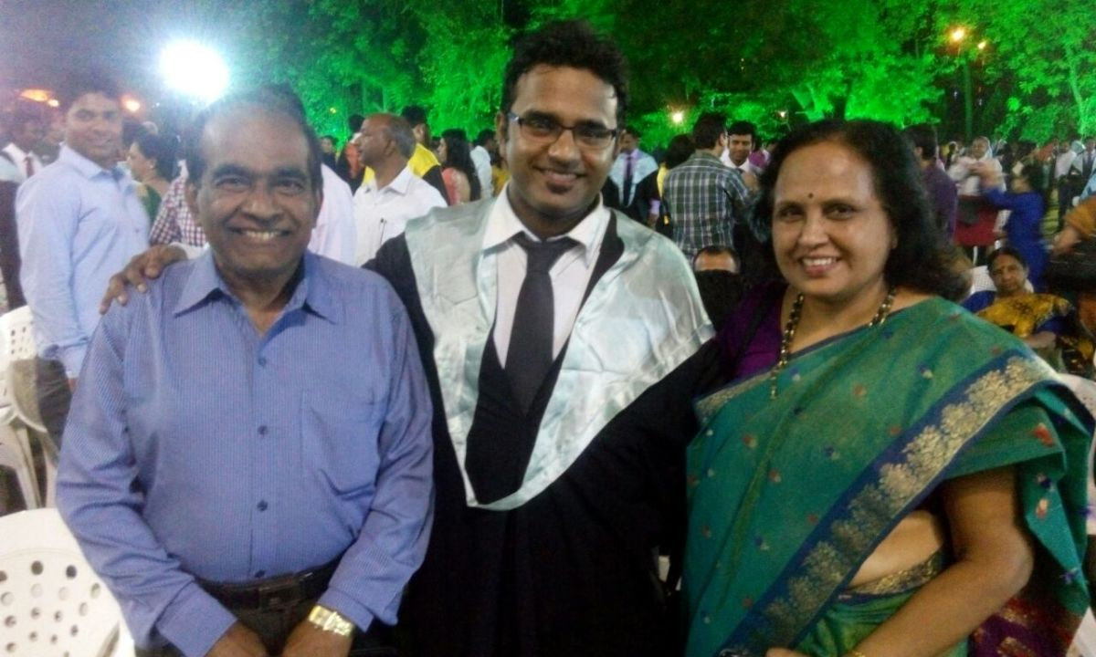 Both of us with son at IIM-A Convocation