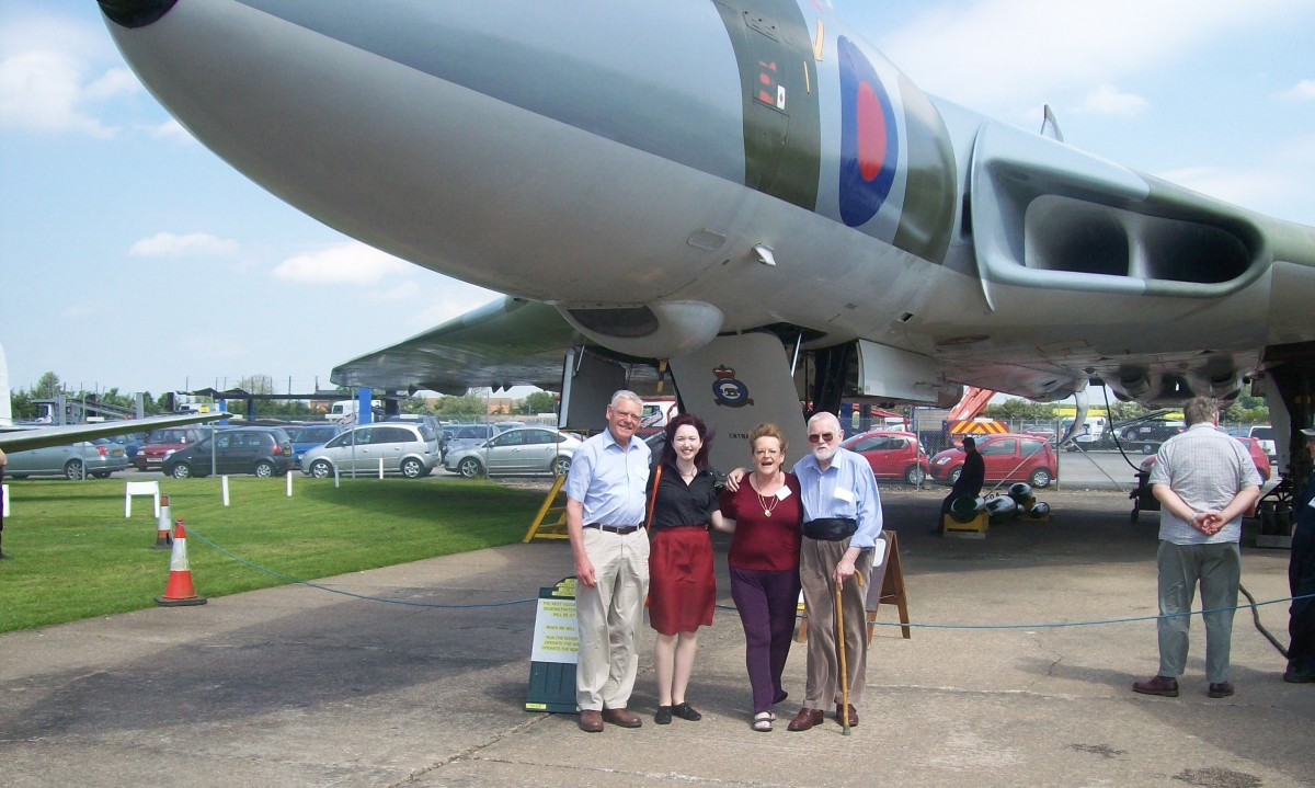 Gary West, me, Lesley Mudge, and Alan Mudge at the V-Force Reunion in May 2014