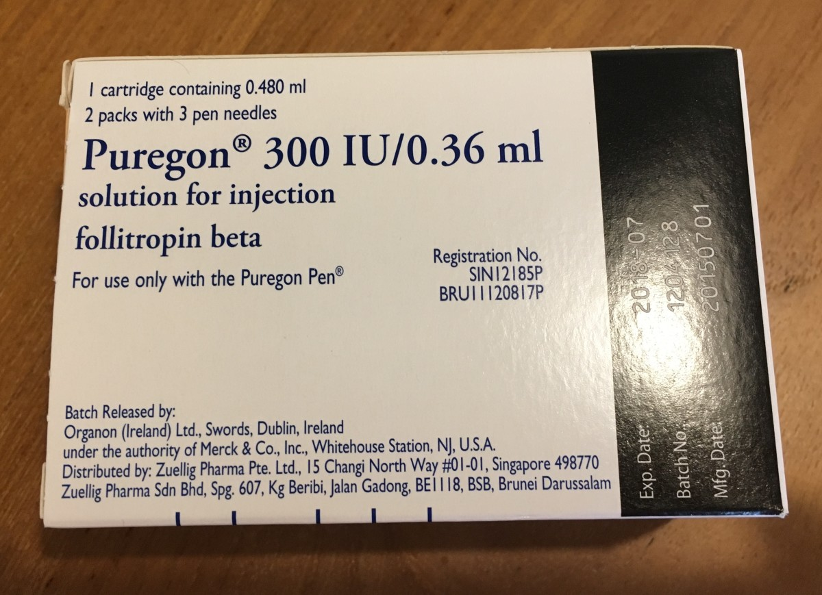 IVF injections that require a Puregon pen for administration