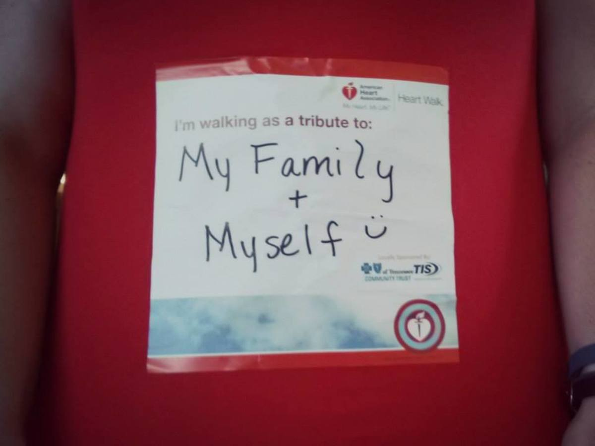 I want to be a walking billboard for heart disease and prevention.