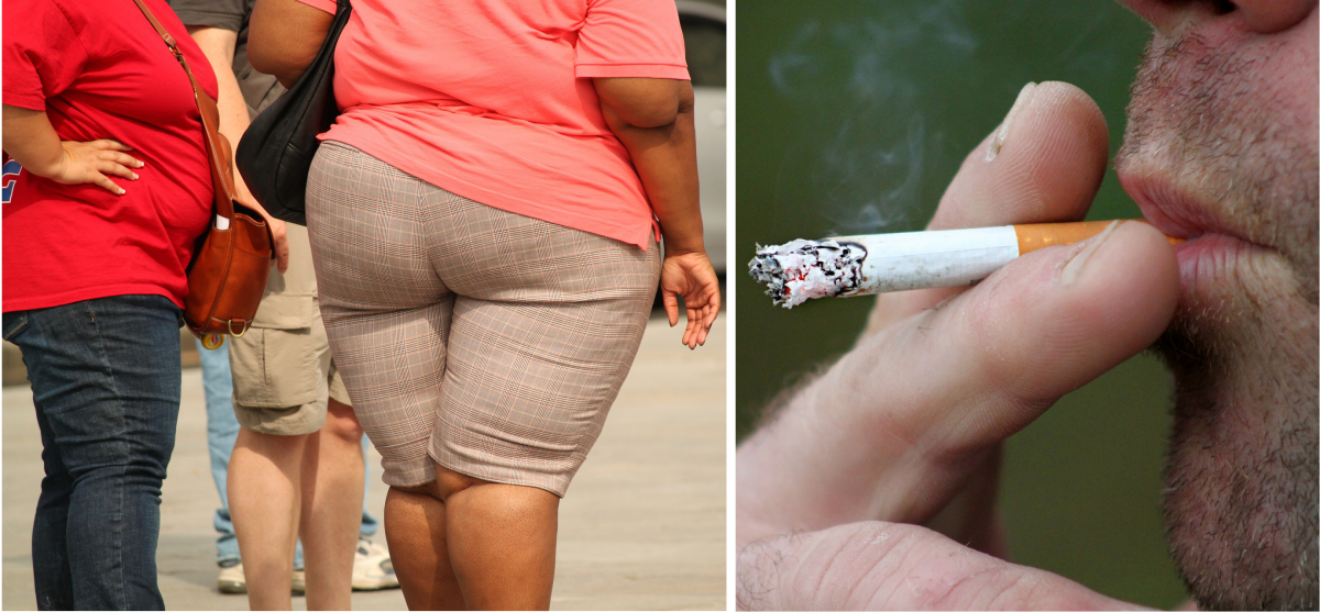 Obesity and smoking will increase your risk of developing DVT.