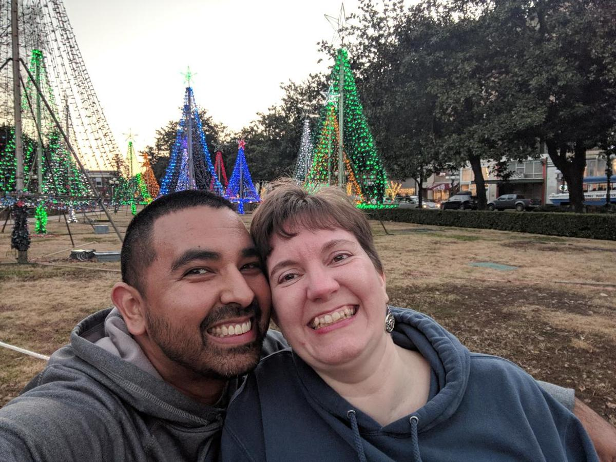 Even in a wheelchair, living life to the fullest with my husband.