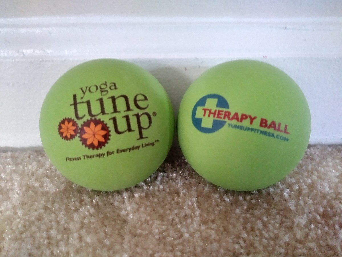 I use these therapy balls to release tightness in my neck, shoulders and back.