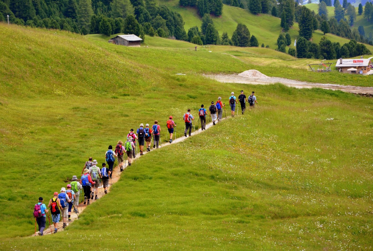 Joining a walking group can be an enjoyable and active way to make new friends