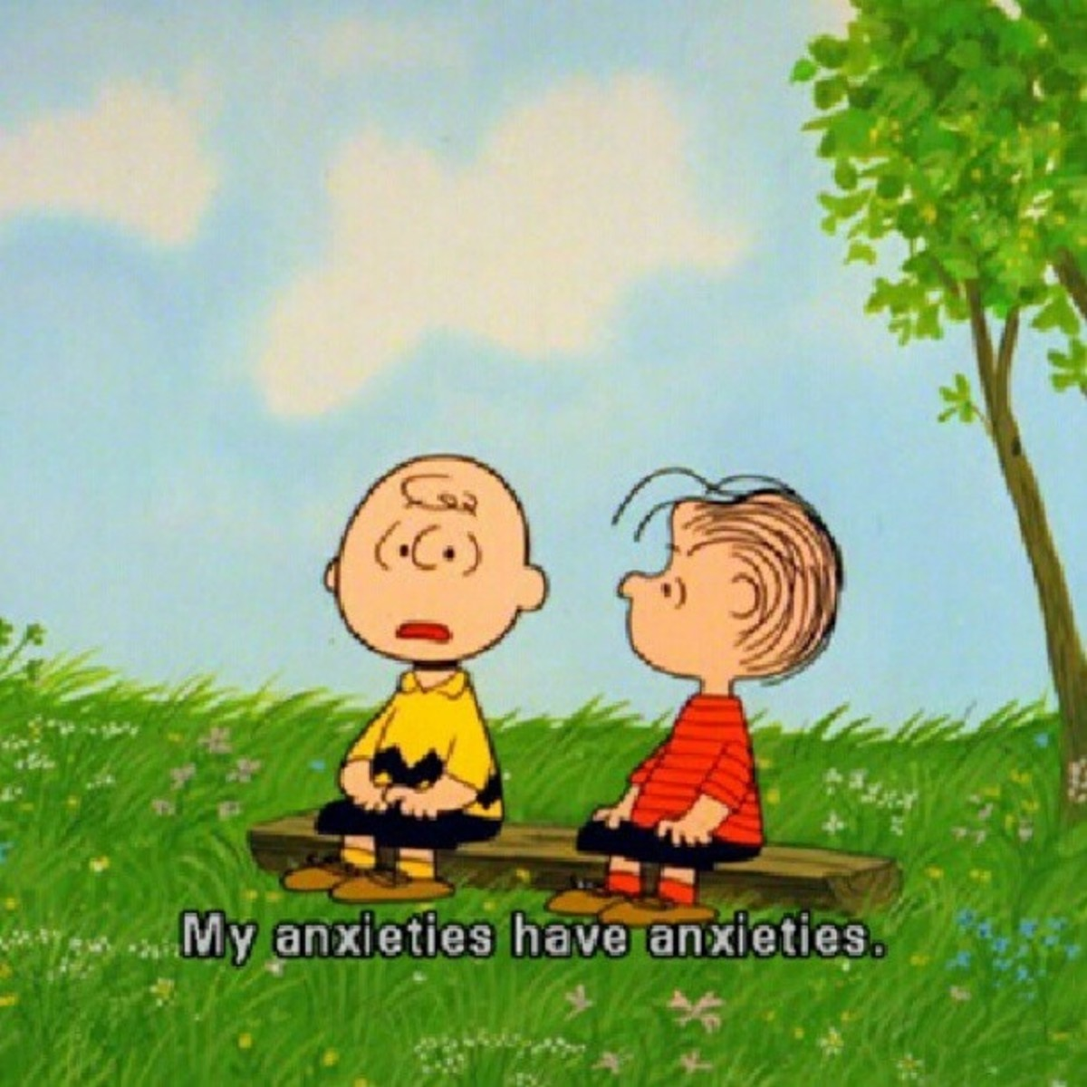 Charlie Brown and anxiety is (sometimes) such a mood