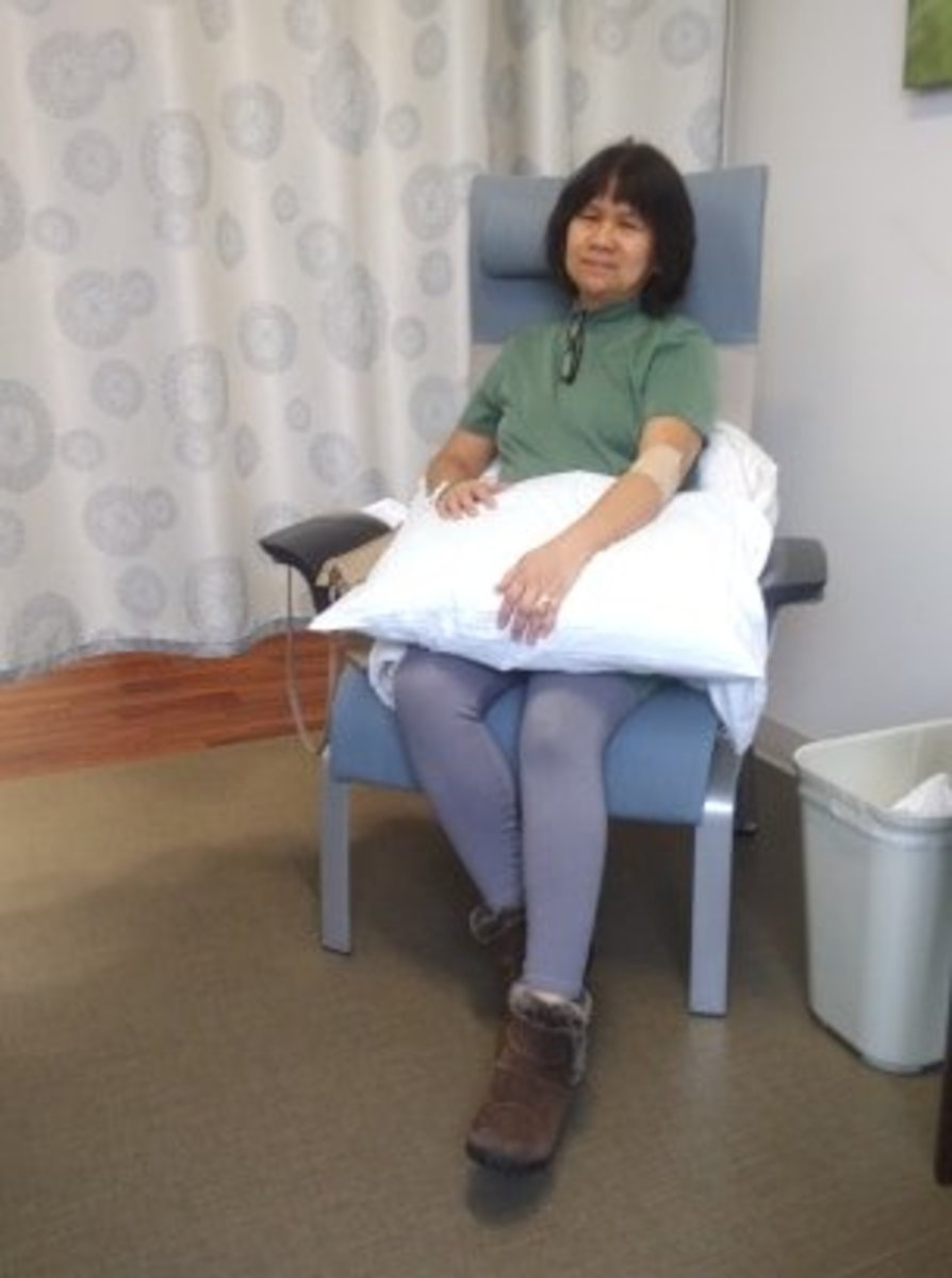 The photo above was at the Infusion Center. I was there for my four-month blood test and oncologist check up.
