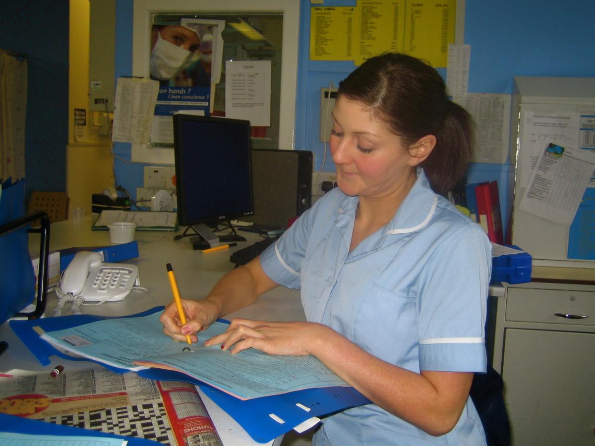 Nurse working hard to keep us healthy!