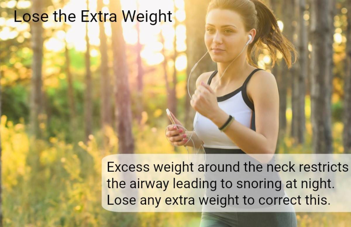 Reduce calories and increase physical activity to improve breathing at night if overweight.