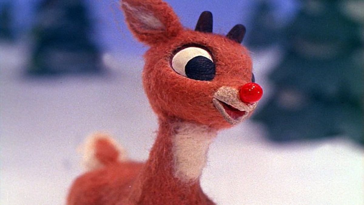 Rudolph is a misfit reindeer who came to the rescue one Christmas Eve to guide Santa through the fog with his glowing red nose.