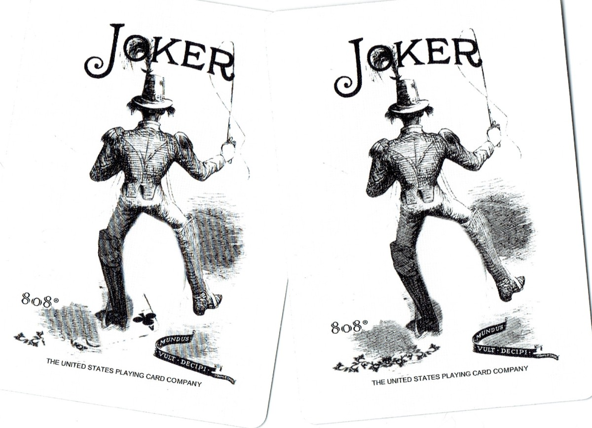Playing card interpretations: use the Jokers if you want to. I'd only include one of them. Ghost  cards by Bicycle.