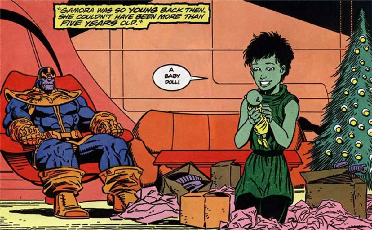 Thanos raised Gamora and even gave her a dolly.