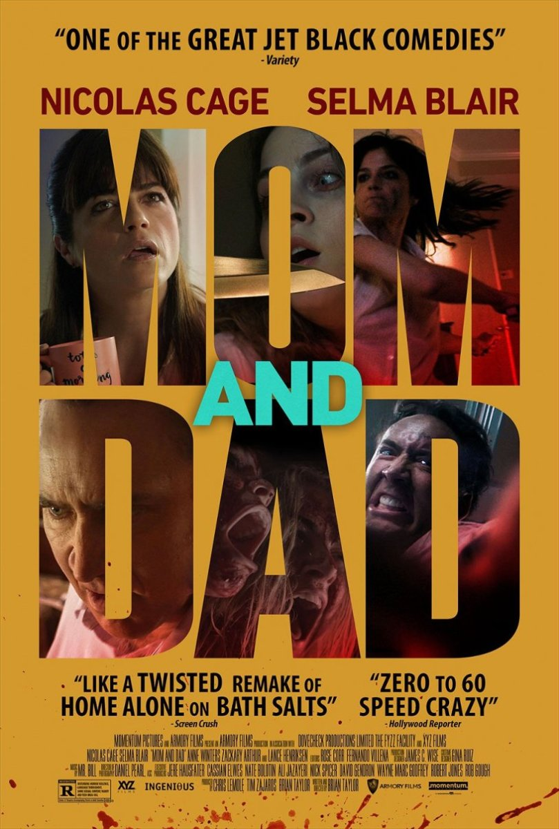 "The official theatrical release poster for ""Mom and Dad,"" courtesy of Momentum Pictures."