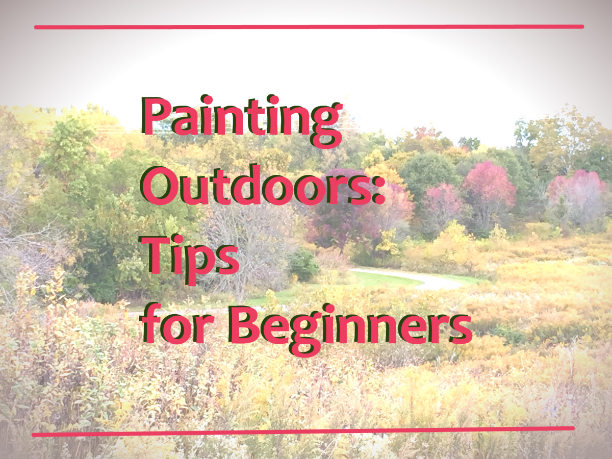 If you are used to studio painting, the first few paintings you do outdoors are going to be very challenging. These tips can help you make outdoors painting a little easier.