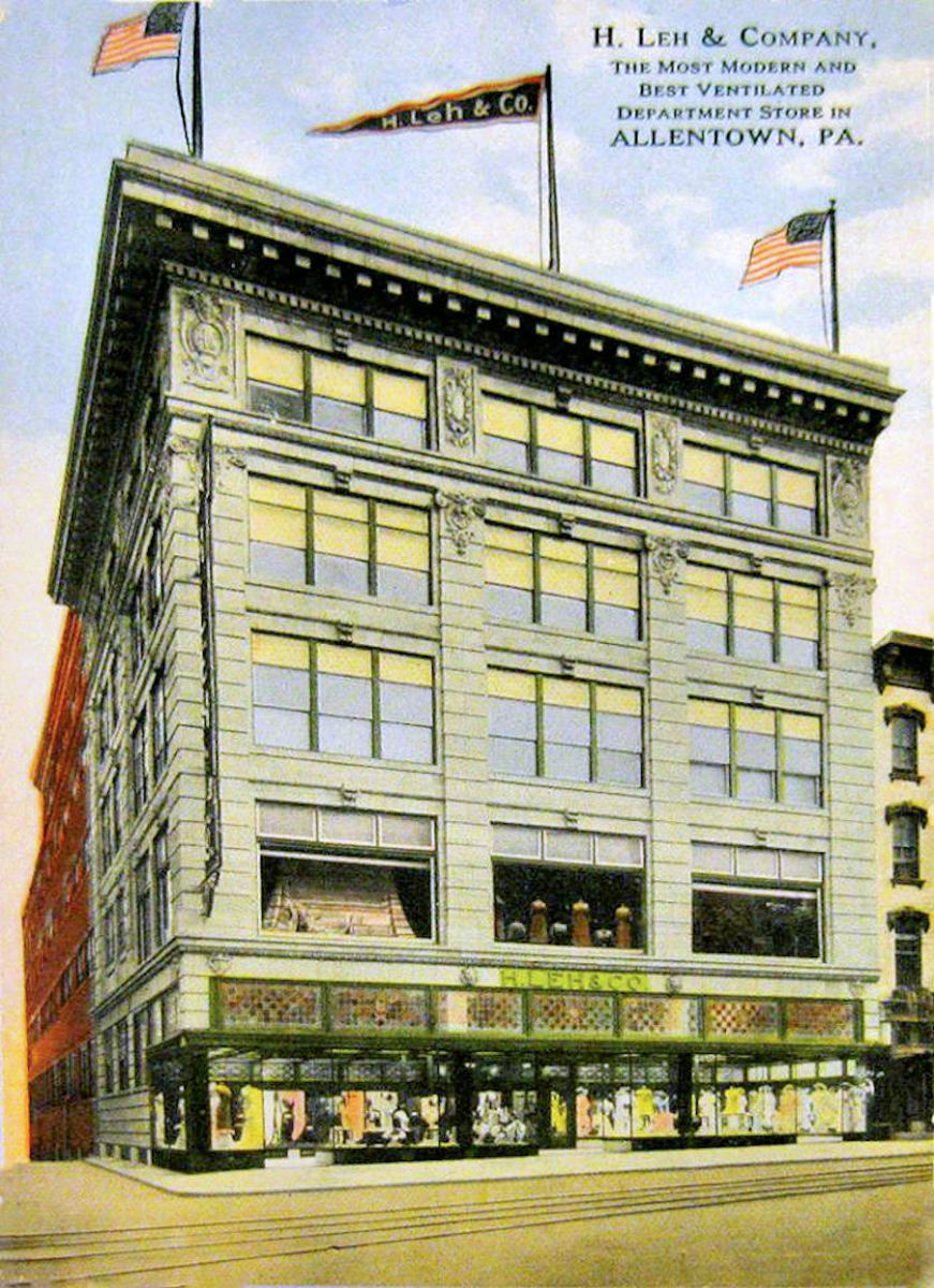 H Leh & Co. Department Store in Allentown Pennsylvania circa 1919