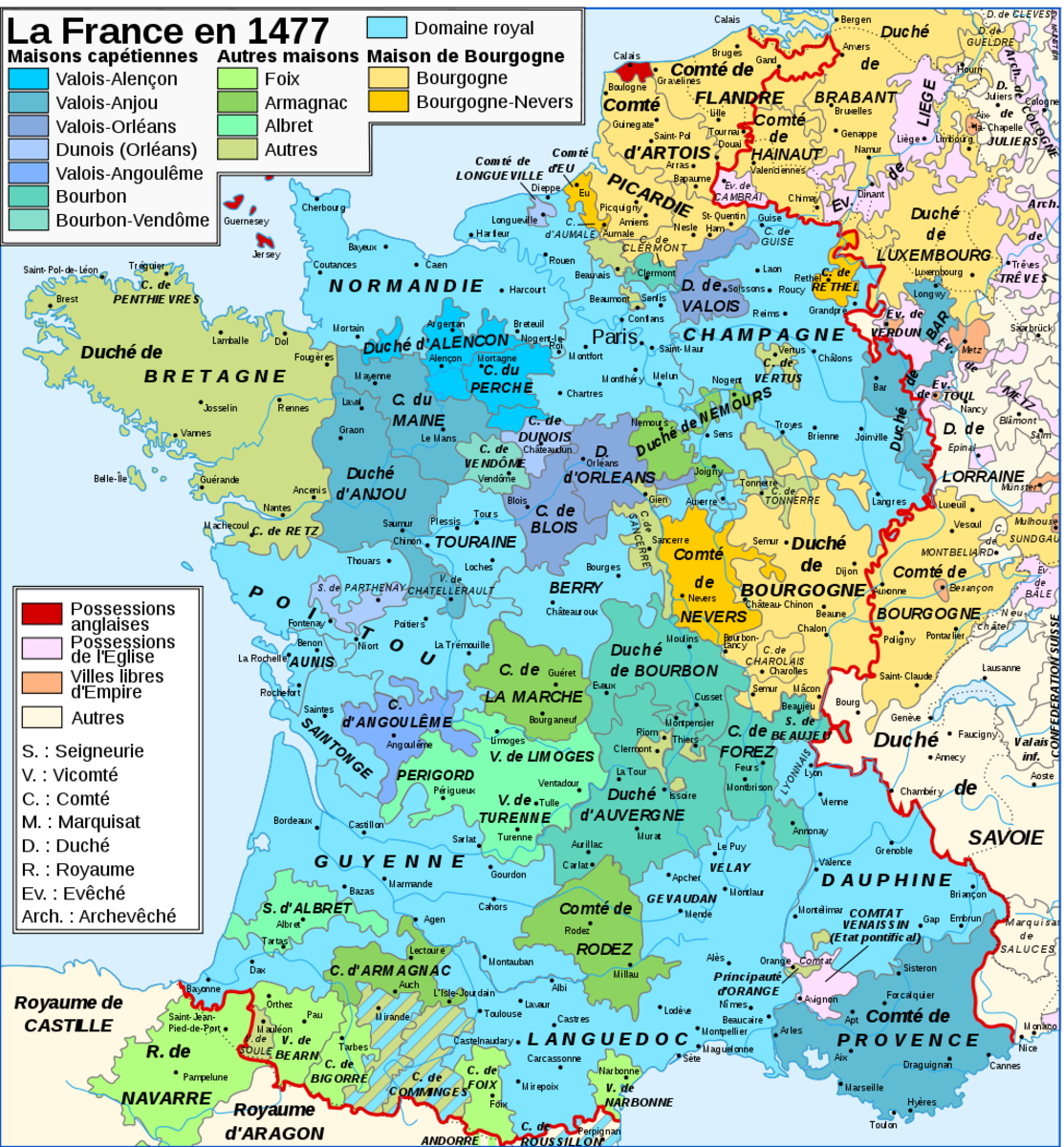 Map Of France With States.Renaissance France S State Owlcation