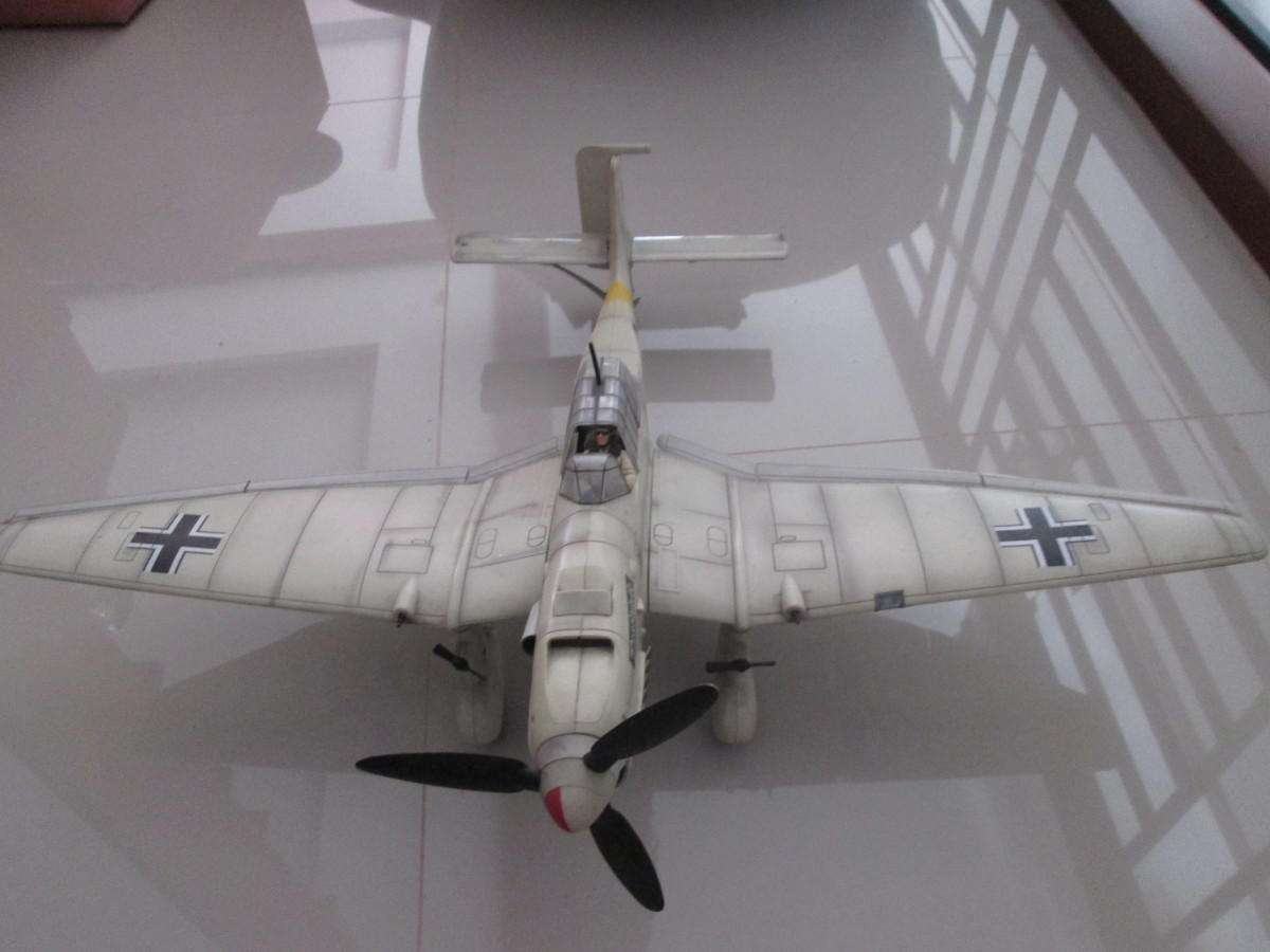 A  plastic airplane from WWII, one of Kevin's favorites toys