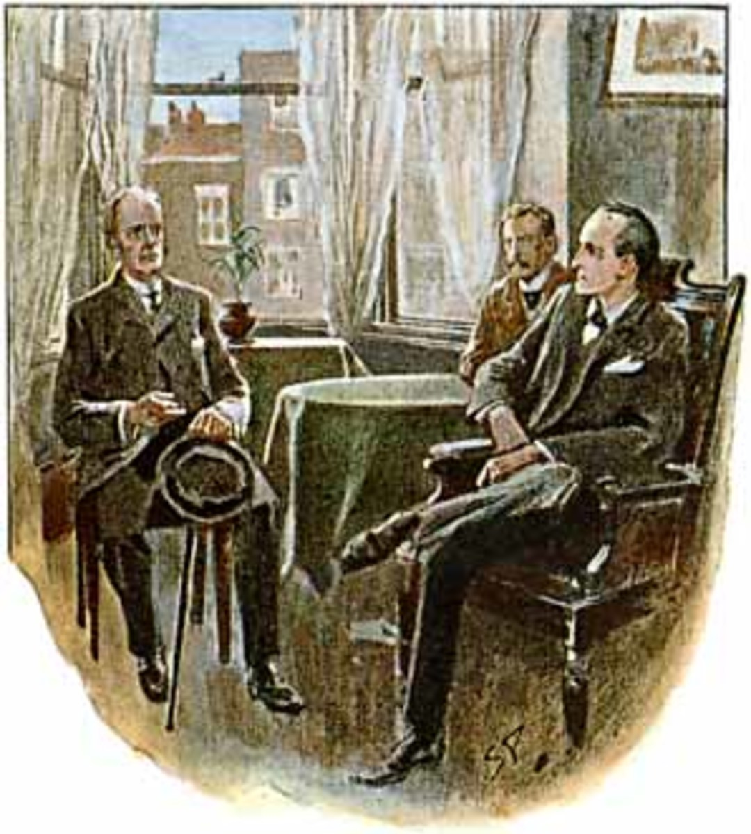 Arthur Conan Doyle, The Adventure of the Three Students (1904), Illustration by Sidney Paget, in The Strand Magazine