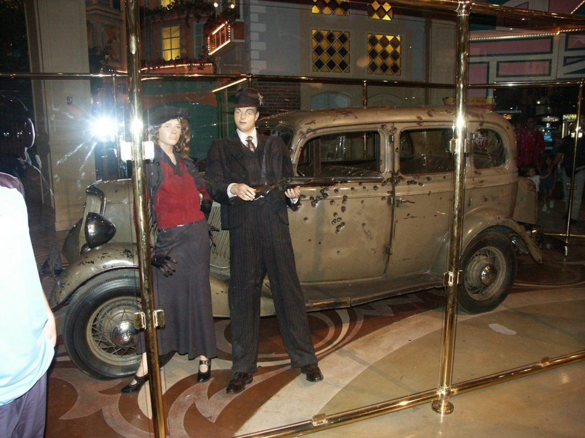 The 1934 Ford Deluxe the where Bonnie & Clyde were shot and killed.