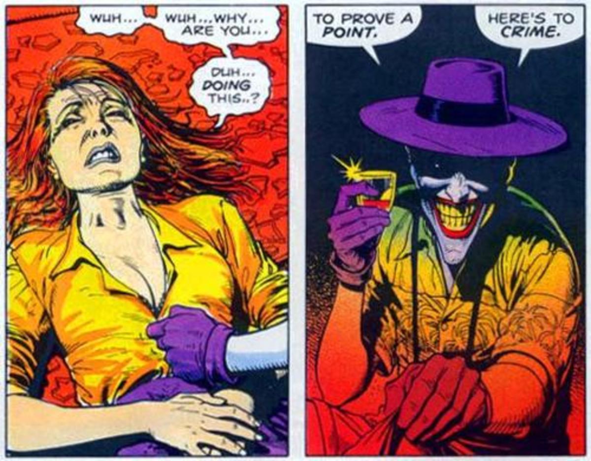 Barbara after being shot by Joker